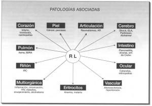 Organos sensibles a la acción de los radicales libres y patologías asociadas